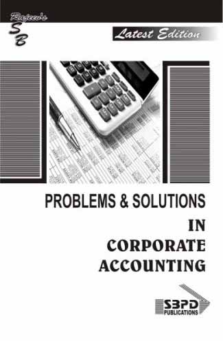 Problems & Solutions In Corporate Accounting (2018-19)